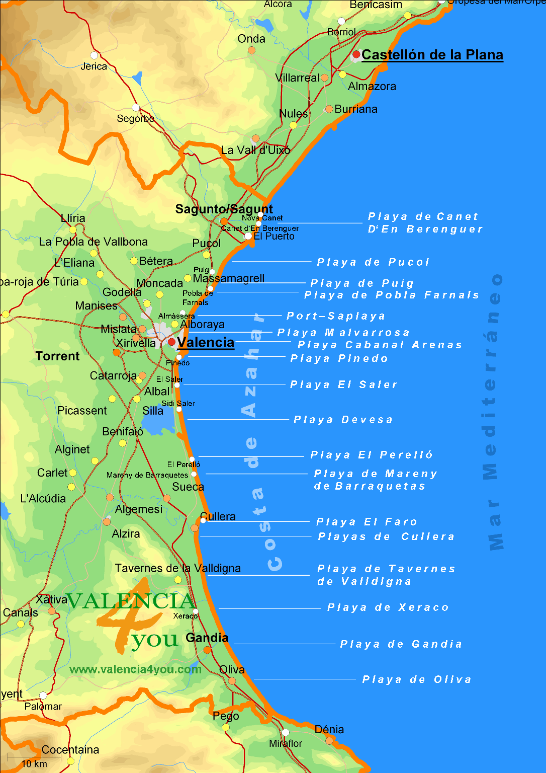 Map Of Spain Valencia Region.Valencia Info Location And Facts
